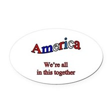 America3 copy.png Oval Car Magnet