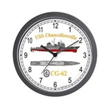 USS Chancellorsville CG-62 Wall Clock