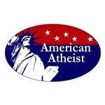 American Atheist Statue of Liberty Oval Sticker