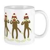 Hear, See, Speak No Evil Sock Monkeys Coffee Coffee Mug