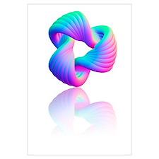 Torus knot, computer artwork