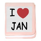 I heart JAN baby blanket