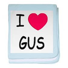 I heart GUS baby blanket