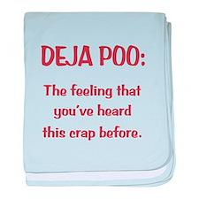 Deja Poo baby blanket
