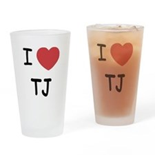 I heart TJ Drinking Glass