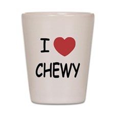 I heart CHEWY Shot Glass