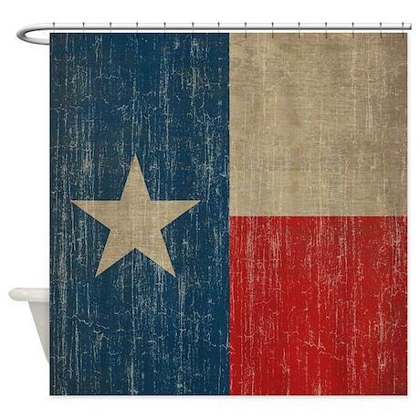 Vintage Texas Flag Shower Curtain By America Tshirts