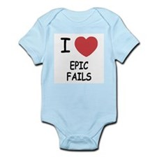 I heart epic fails Infant Bodysuit