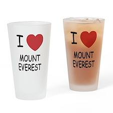I heart mount everest Drinking Glass