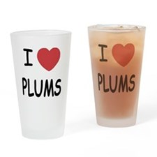 I heart plums Drinking Glass