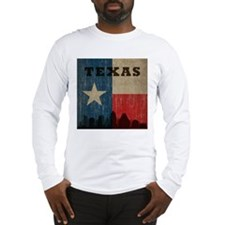Vintage Texas Skyline Long Sleeve T-Shirt