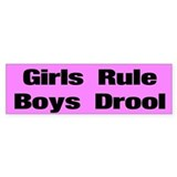 Girls Rule Custom Bumper Sticker