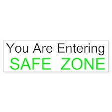 Entering Safe Zone Custom Bumper Sticker
