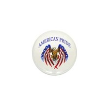 American Pride Eagle Mini Button (100 pack)