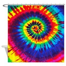 Bright Tie-Dye Shower Curtain