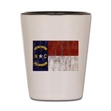 North Carolina Retro Flag Shot Glass