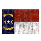 North Carolina Retro Flag Postcards (Package of 8)