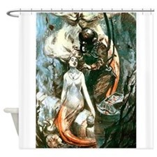 MERMAIDS AND DIVER.psd Shower Curtain