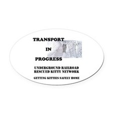Transport In Progress Oval Car Magnet