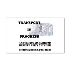 Transport In Progress Car Magnet 20 x 12