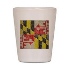 Vintage Maryland Flag Shot Glass
