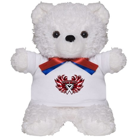 Mesothelioma Heart Wings Teddy Bear