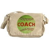 Softball Coach Messenger Bag