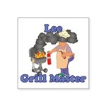 Grill Master Lee Square Sticker 3