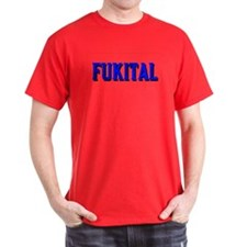 FUKITAL BLUE TEXT DARK T-Shirt