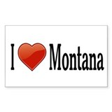 I Love Montana Decal