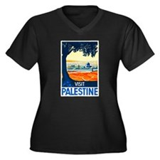 Palestine Travel Poster 1 Women's Plus Size V-Neck