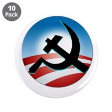 "OBAMA COMMUNIST 3.5"" Button (10 pack)"