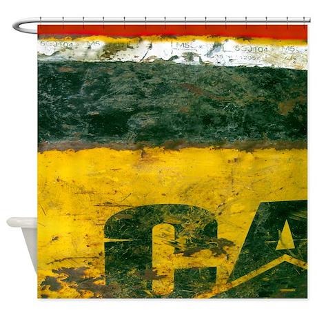 Oil Drum Industrial Shower Curtain by rebeccakorpita