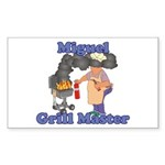 Grill Master Miguel Sticker (Rectangle)