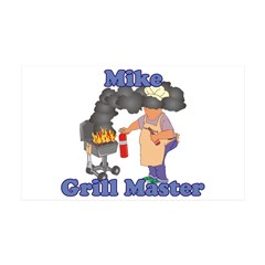 Grill Master Mike 35x21 Wall Decal