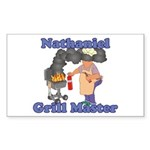 Grill Master Nathaniel Sticker (Rectangle)