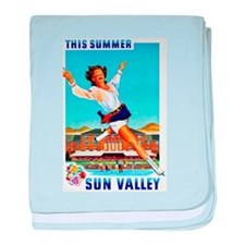Sun Valley Travel Poster 1 baby blanket