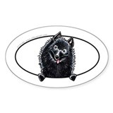 Schipperke Peeking Bumper Decal