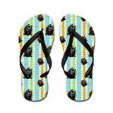 Schipperke Pretty Plaid Flip Flops