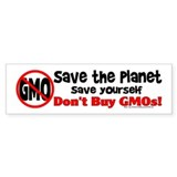 Don't Buy GMOs Car Sticker