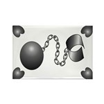 Ball And Chain Rectangle Magnet (100 pack)