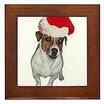 belle-santa.png Framed Tile
