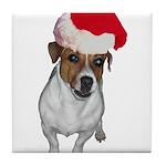 belle-santa.png Tile Coaster