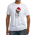 belle-santa.png Fitted T-Shirt