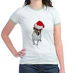 belle-santa.png Jr. Ringer T-Shirt