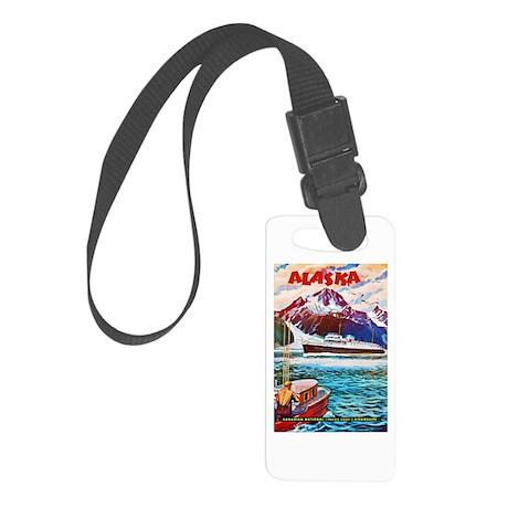 Alaska Travel Poster 1 Small Luggage Tag