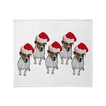 belle-santa-yardsign.png Throw Blanket