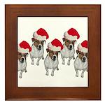belle-santa-yardsign.png Framed Tile