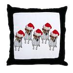 belle-santa-yardsign.png Throw Pillow