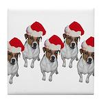 belle-santa-yardsign.png Tile Coaster